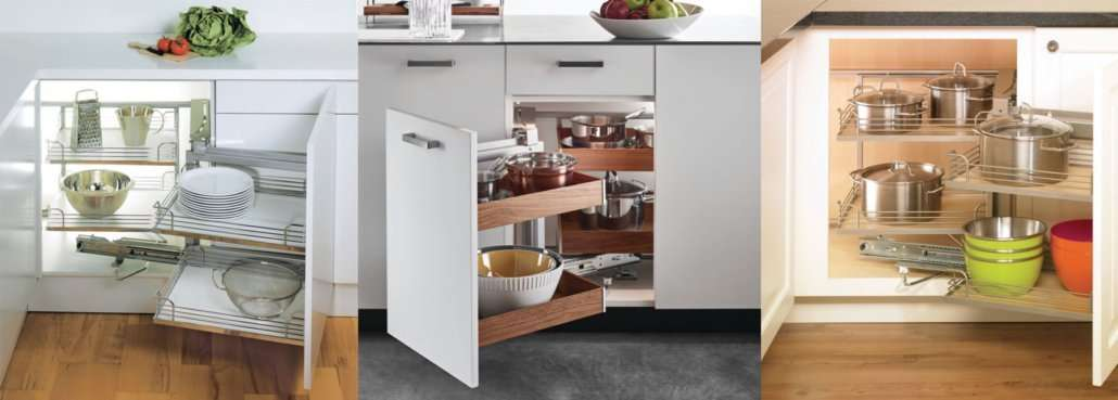 Clever Storage for Corners in Kitchens   Harrell Remodeling ...