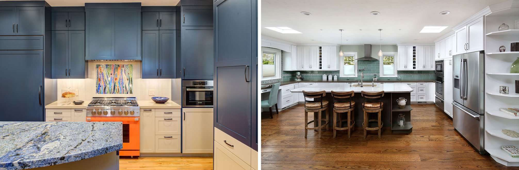 Creating Contrast With Kitchen Cabinets Harrell Remodeling Inc
